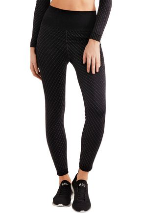 LUCAS HUGH Stardust metallic stretch-jersey leggings