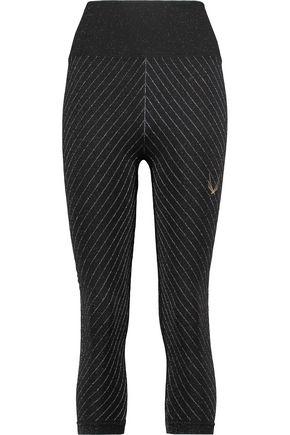 LUCAS HUGH Lamé and stretch-jersey leggings