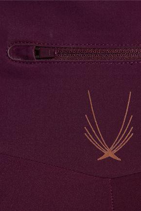 LUCAS HUGH Blackstar iridescent-paneled stretch-jersey leggings