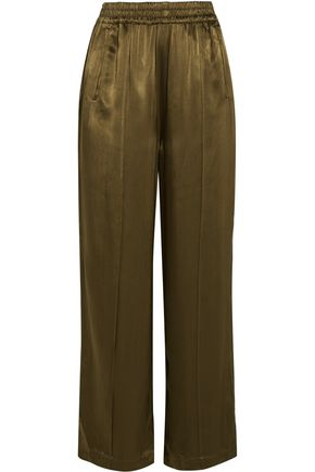 GANNI Satin wide-leg pants
