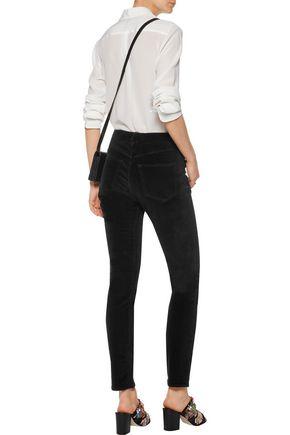 3x1 W3 Channel cotton-blend velvet skinny pants