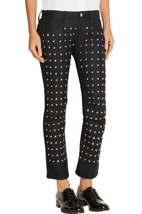 JUNYA WATANABE Studded wool straight-leg pants