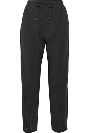 KORAL Alliance perforated stretch-jersey track pants ...