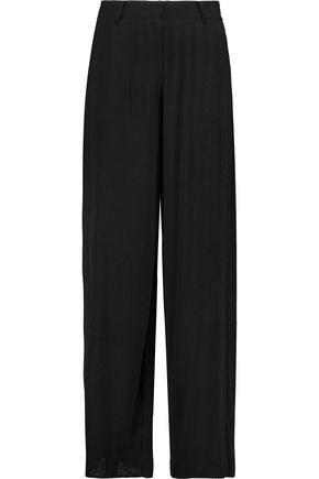 McQ Alexander McQueen Ribbed georgette wide-leg pants