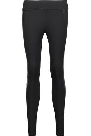 J BRAND Mugu leather-paneled stretch-ponte leggings