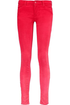 MOTHER The Looker ombré cotton-blend corduroy skinny pants