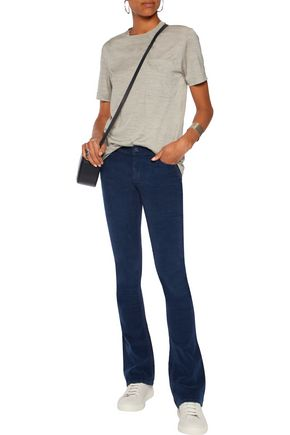 MOTHER The Runaway cotton-blend corduroy bootcut pants