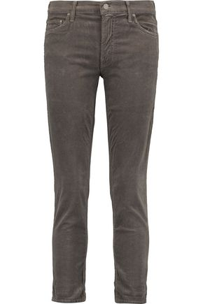 MOTHER The Dropout cotton-blend corduroy skinny pants