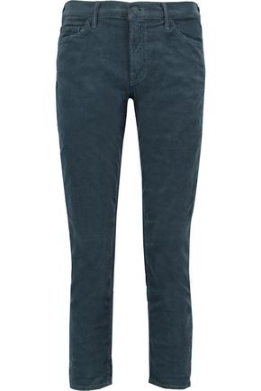 MOTHER The Dropout cropped corduroy skinny pants