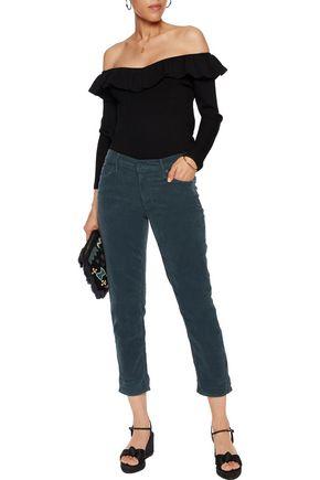 MOTHER The Dropout cotton-blend corduroy skinny pants