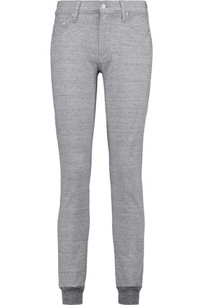MOTHER The Trainer slub cotton-blend skinny pants