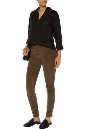 MOTHER High Waisted Looker cotton-blend corduroy skinny pants