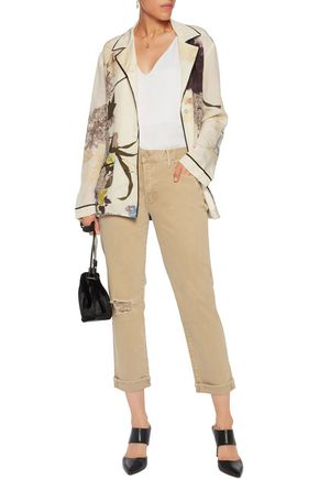 MOTHER The Loosey cotton-blend twill straight-leg pants