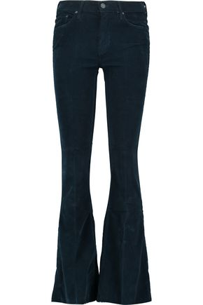 MOTHER The Weekender cotton-blend corduroy flared pants