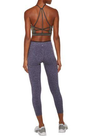 KORAL Mystic cropped marled stretch leggings
