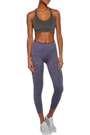 KORAL Mystic cropped marled stretch leggings
