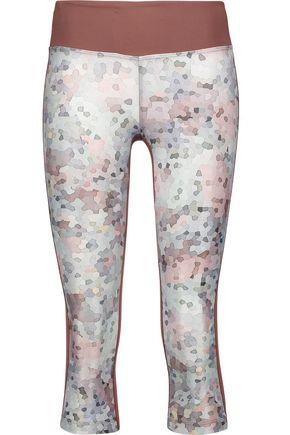 KORAL Emulate cropped paneled printed stretch leggings