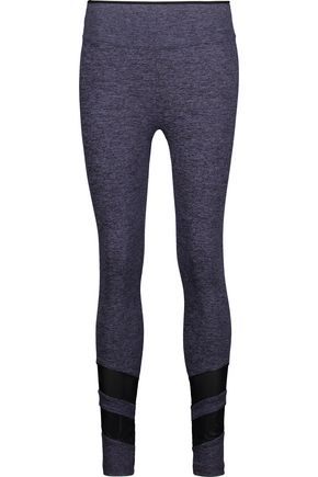 KORAL Acme mesh-paneled marled stretch leggings