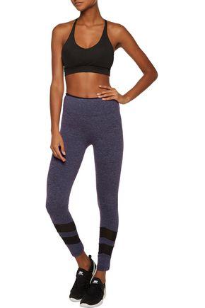 KORAL Acme mesh-paneled marled stretch leggings