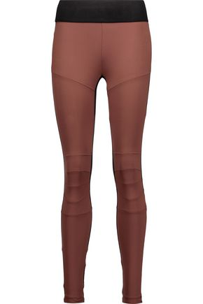 KORAL Moto two-tone stretch leggings