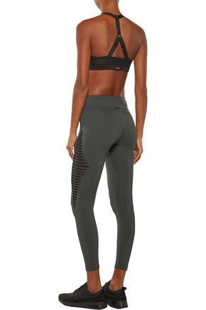 KORAL Meteor cutout mesh-paneled stretch  leggings