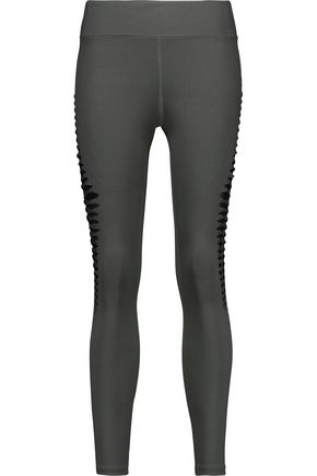KORAL Meteor cutout mesh-paneled stretch  leggings