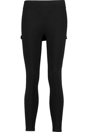 SAPOPA Layered neoprene leggings