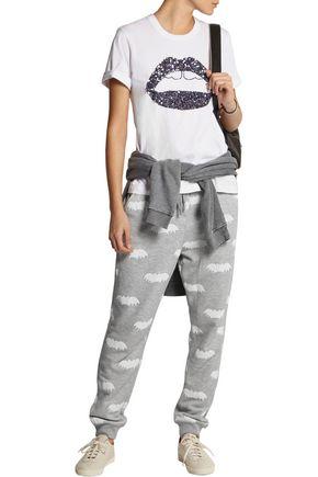 ZOE KARSSEN Printed jersey track pants