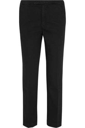 FRAME Le Cropped stretch cotton-blend twill tapered pants