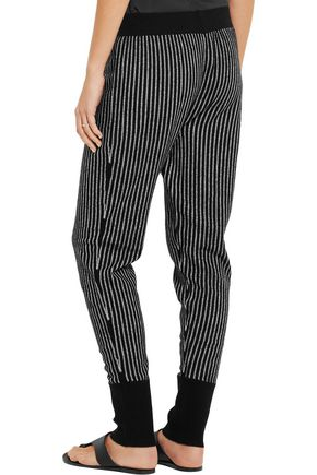 RAQUEL ALLEGRA Merino wool and cashmere-blend track pants