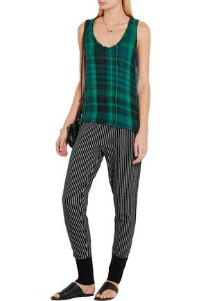 RAQUEL ALLEGRA Merino wool and cashmere-blend track pants