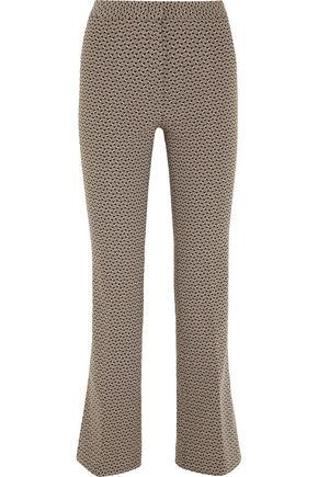 ETRO Gemma cropped jacquard flared pants