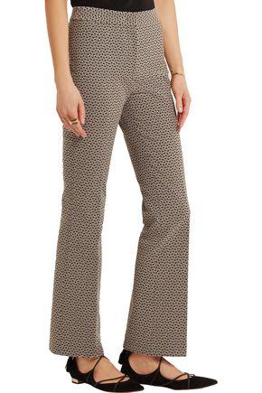 ETRO Gemma cropped jacquard flared pants