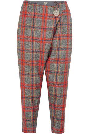 VIVIENNE WESTWOOD ANGLOMANIA Flap cropped tartan wool pants