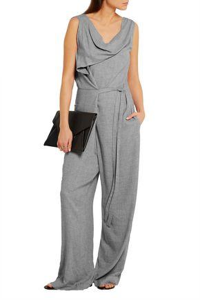 VIVIENNE WESTWOOD ANGLOMANIA Twisted draped crepe jumpsuit