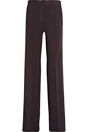 BURBERRY Striped stretch-jersey wide-leg pants