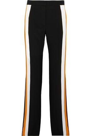 STELLA McCARTNEY Striped silk-crepe wide-leg pants
