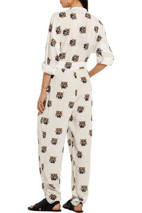 STELLA McCARTNEY Monia printed silk-crepe jumpsuit