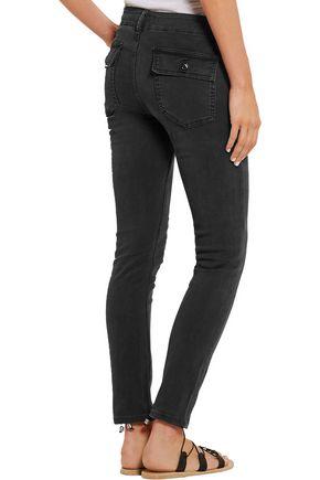 THE GREAT. Strech-corduroy slim-leg pants