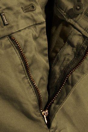 J.CREW Sammie cropped stretch cotton-twill straight-leg pants