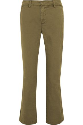 J.CREW Sammie cropped stretch cotton-twill straight-leg pants