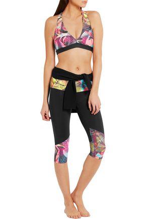 BODYISM I Am Proud printed stretch-jersey capri leggings