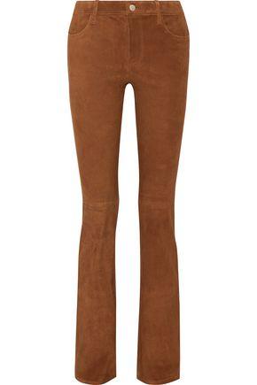 J BRAND Brya suede bootcut pants