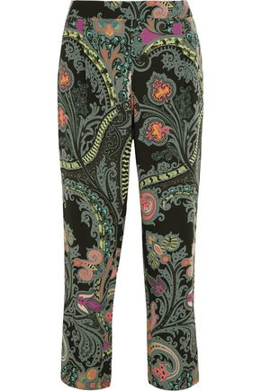 ETRO Paisley-print silk straight-leg pants
