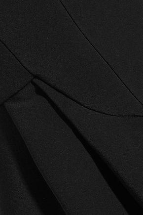 ANTONIO BERARDI Strapless velvet-trimmed stretch-cady jumpsuit