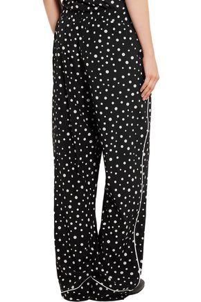 DOLCE & GABBANA Polka-dot silk-blend wide-leg pants