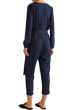 HATCH The Emmanuelle embroidered crepe jumpsuit