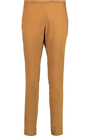 ROCHAS Cotton-blend slim-leg pants