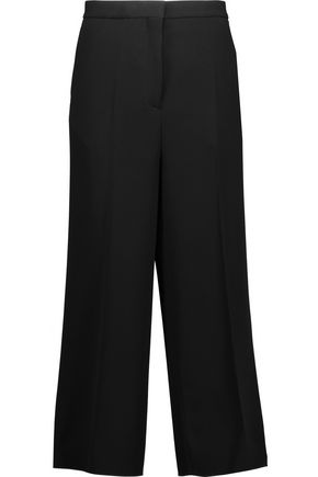 ROCHAS Cropped crepe wide-leg pants