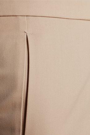 ROCHAS Cropped wool-canvas straight-leg pants
